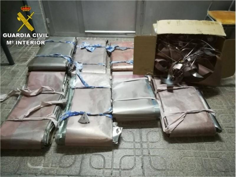 Part del material furtat, confiscat pels agents