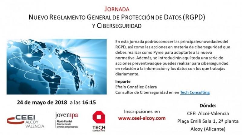 El CEEI d'Alcoi organitza una Jornada del Nou Reglament General de Protecció de Dades (RGPD) i Ciberseguretat