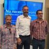 Antonio Pérez, Juan Ignacio Torregrosa i Manolo Llorca presenten la campanya / R. Lledó
