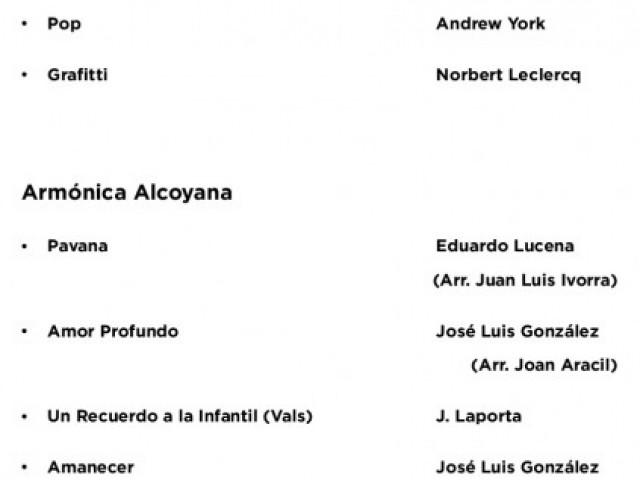 El II Festival de Guitarra José Luis González, començarà amb el concert de l'Harmònica Alcoiana / Cartell
