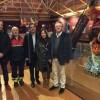 Joaquin Rubio, Amancio Guerrero, Toni Francés, Lorena Zamorao i Jaume Lloret junt al ninot donat al MUBOMA / R. Lledó