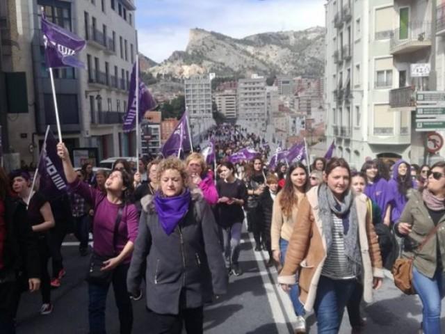 Un moment de la manifestació del passat 8 de març, dia de la dona