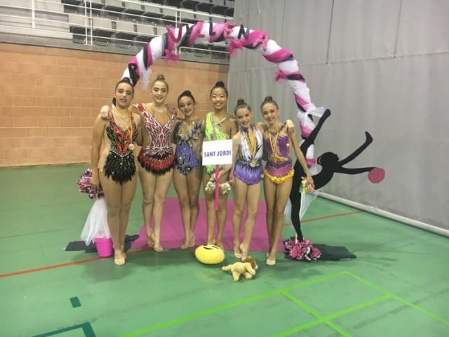 Gimnastes del CGR Sant Jordi que competiren a Villena / CGR Sant Jordi