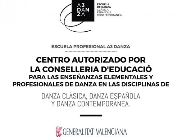 El centre, A3 Dansa ja pot impartir ensenyaments artístics de Dansa a Alcoi / fb A3Danza