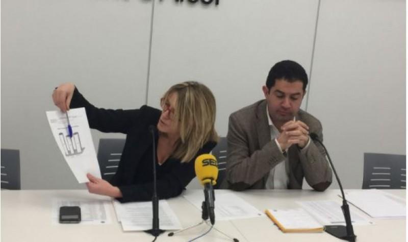 Vanessa Moltó i Toni Francés, presenten els pptos 2018 / R. Lledó