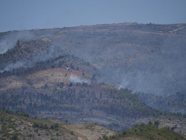 Imatge de l'incendi des del Viaducte./ RCM