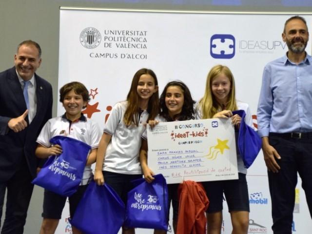 El projecte 'Reutilització de cartó' del Col·legi Sant Roc d'Alcoi guanyador del concurs ideaT-kids / UPV