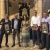 Els protasgonistes de la presentació de la revista, amb l'alcaldessa, Mireia Estepa Olcina