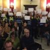 Sindicats policials protestant a un plenari / R. Lledó