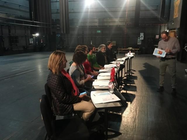 Els treballadors del Teatre Calderón d'Alcoi reben formació en concepte de prevenció de riscos laborals / Teatre Calderón
