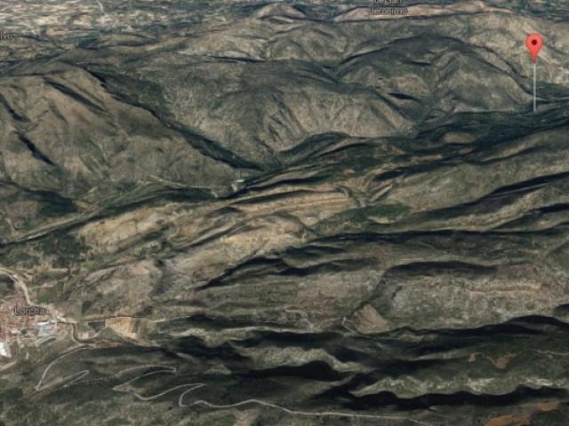 Barranc de la Parra a L'Orxa, marcat en roig en aquesta imatge del Google Maps