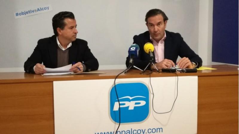 Fernando Pastor i rafa Miró presenten les esmenes dels populars als pressupostos de la Generalitat