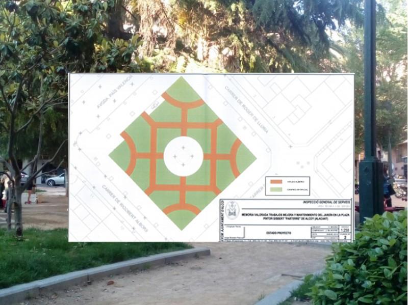Plànol de les obres previstes al Parterre