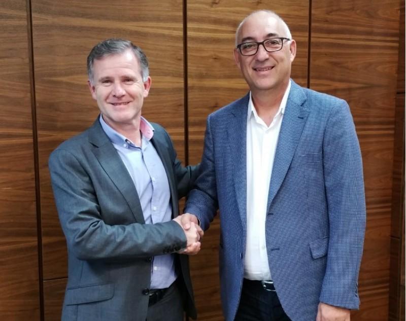 A l'esquerra Miguel Ángel Alcaraz, director general del Grupo Nudisco; acompanyat del director general d'Acteco, Jorge Ramis/NUDISCO