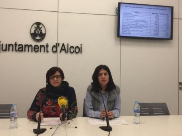 Estefania Blanes i Naiara Davó parlen dels pressupostos 2018 / R. Lledó