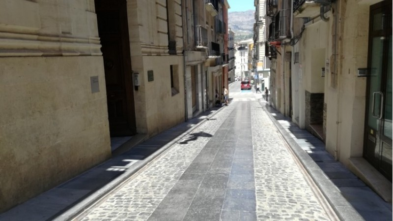 El carrer Sant Francesc