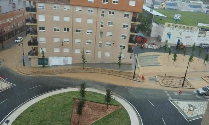La rodona del Collao, en les pluges de maig