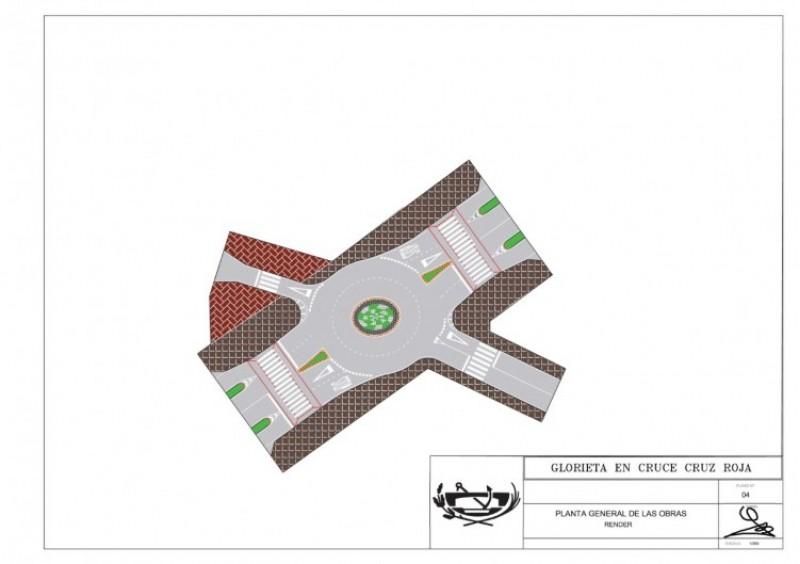 Plànol de la rotonda / Ajuntament d'Ibi