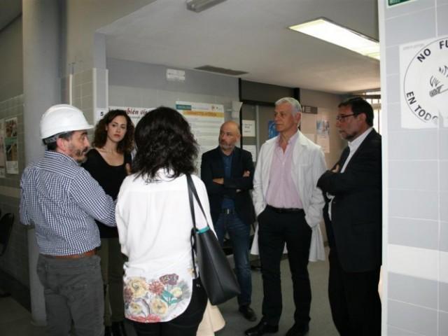 Un moment de la visita a les obres / Ajuntament de Cocentaina
