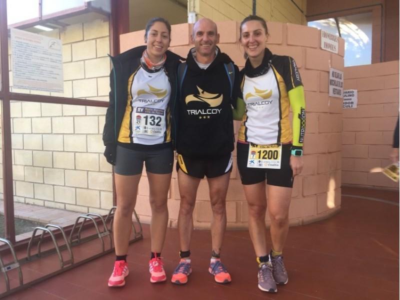 Els tres participants del Trialcoy a la prova de Petrer / Trialcoy