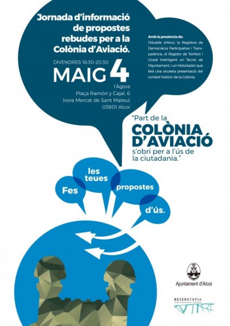 Jornada informativa sobre els usos de la colònia d'Aviació a l'Àgora d'Alcoi / Ajunt. Alcoi