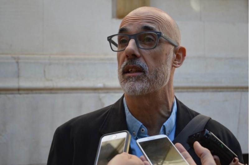 Julià Àlvaro parlant abans del Ple del Consorci