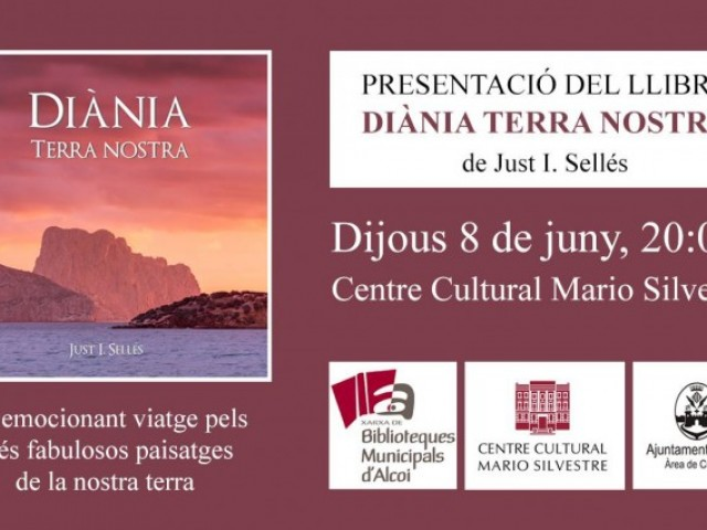 Targeta de presentació de 'Diània terra nostra' al Centre Cultural d'Alcoi./ AM