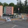 La foguera de la Zona Nord ha estat ubicada fins ara darrere del Poliesportiu de Caramanxel / AM