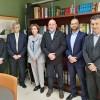 La directora de l'IVACE, Júlia Company, amb representants dels institus tecnològics AIJU, AIMPLAS i ITE