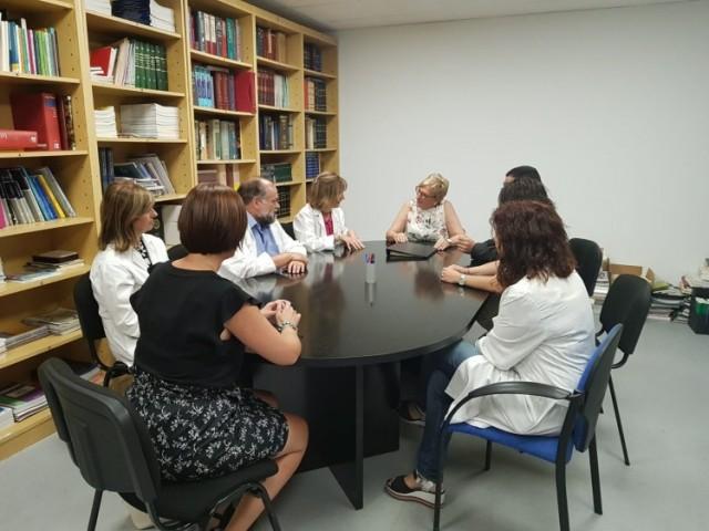 Barceló reunida amb direcció de l'Hospital