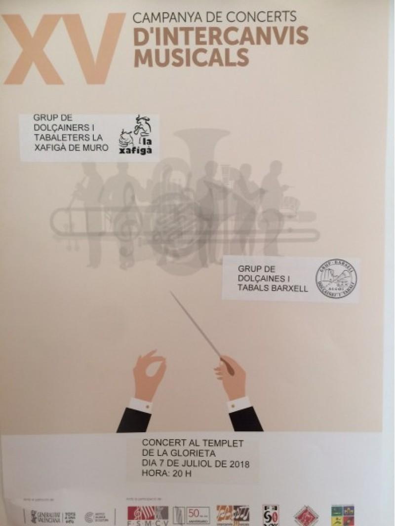 La música dels dolçainers donarà vida a la Glorieta d'Alcoi amb un concert / Grup de dolçaines i tabals Barxell