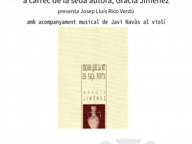Llibre 'Encara que la nit es faça forta' de Gràcia Jiménez