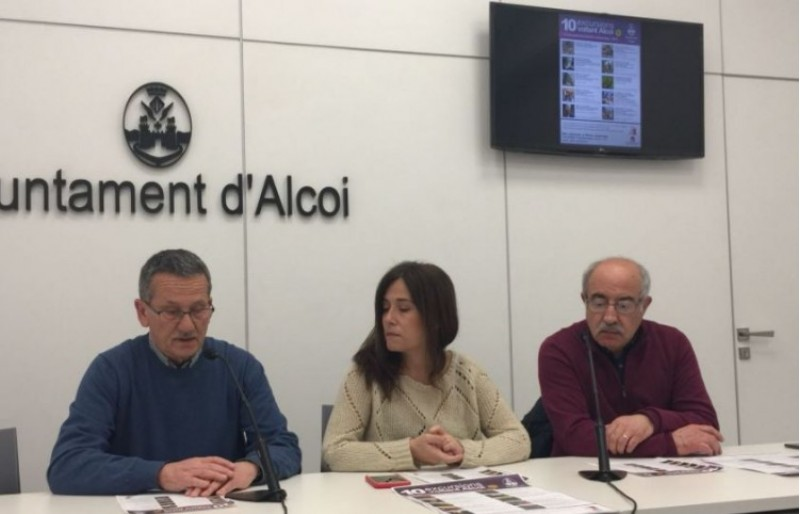 José Maria Segura, Lorena Zamorano i Pedro Juan Parra han presentat les 10 rutes / R. Lledó