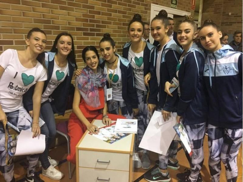 Alejandra Quereda durant la seua visita al CGR Sant Jordi fa quatre mesos