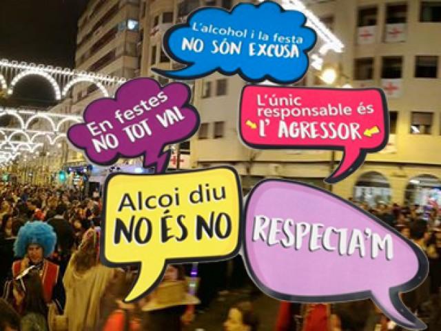 Les festes d'Alcoi, lliures d'agressions sexistes. L'Ajuntament qualifica d'èxit la campanya Alcoi diu 'No és No'