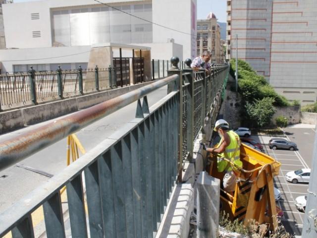 Les obres al pontó de Sant Jaume d'Alcoi obliguen a tallar el trànsit temporalment a la carretera del riu