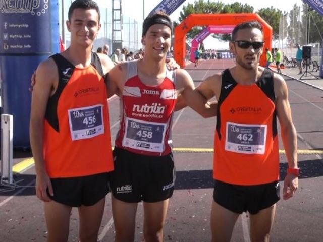 Els 3 primers en categoria sènior masculina de la 10 K / AM