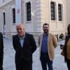 Nácher i Valor, juntament a l'alcalde i el regidor de Cultura Llopis, al CADA