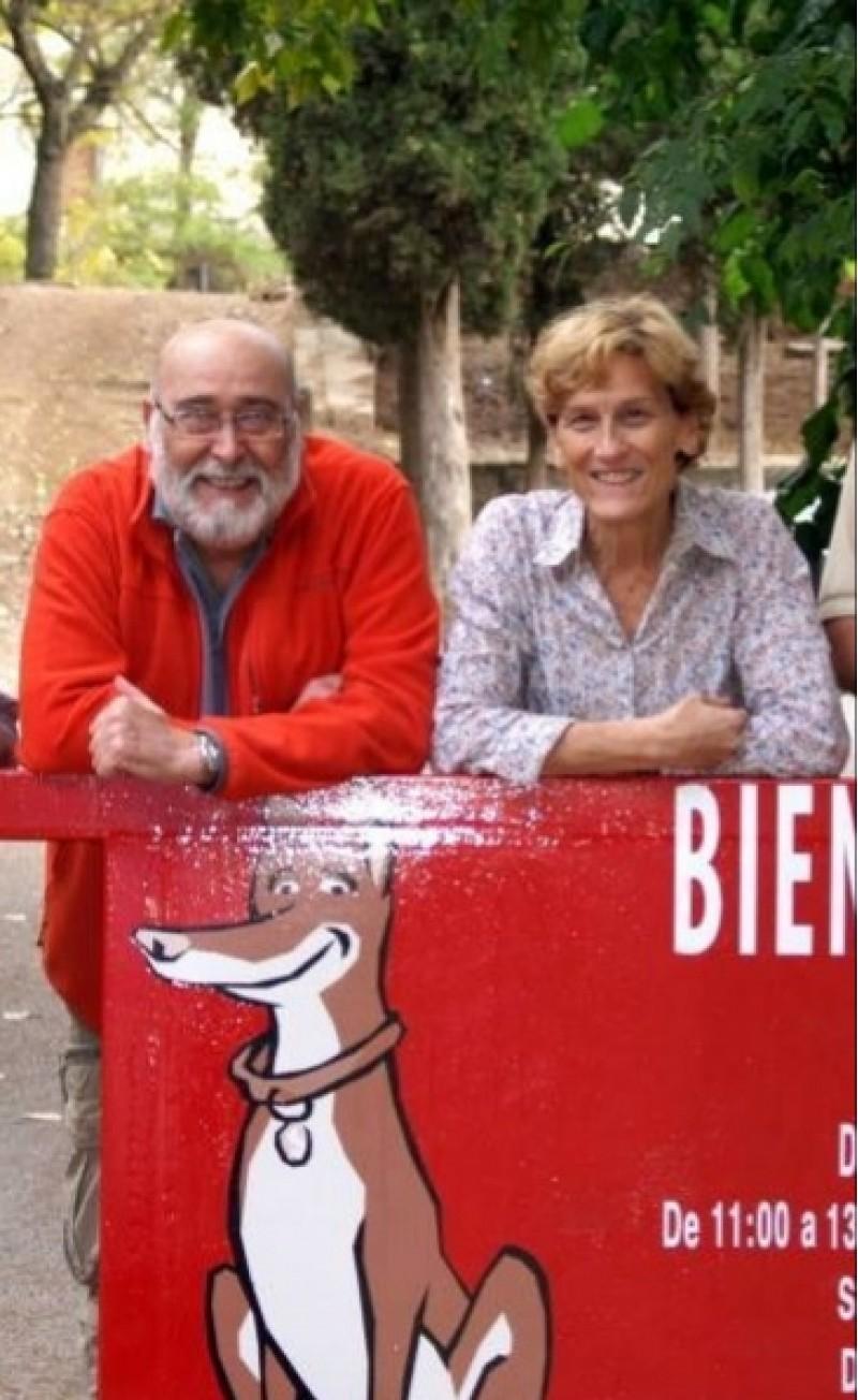 Gonzalo Gisbert, president de la Societat Protectora d'Animals, amb la seua dona Maite. Imatge facilitada des de la Protectora