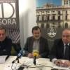 Jaume Masiá, Manolo Gomicia i Jesús Casanova a la presentació del Networking / R. Lledó