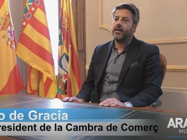 """Pablo de Gracia, nou president de la Cambra de Comerç d'Alcoi: """"Veig completament il·lògic que una empresa de Cocentaina haja d'anar a Cambra Alacant"""""""