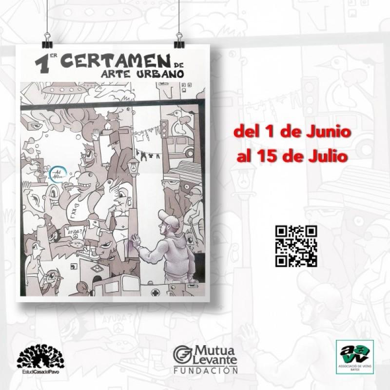 Participa en el primer certamen d'Art Urbà d'Alcoi