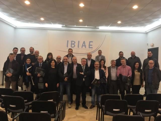 Pedro Prieto amb la seua junta directiva / IBIAE