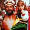 Ana Tormo, al braç de son pare en les festes d'Alcoi