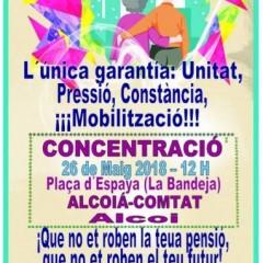 Opinió de Antonio Matarredona, membre de la Coordinadora de pensionistes de L'Alcoià i El Comtat