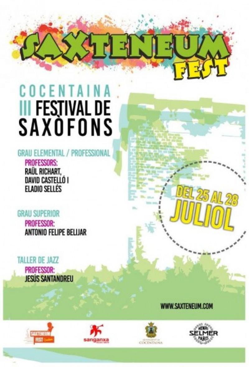Presentació del III Festival de Saxofon a Cocentaina