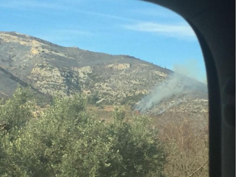 Inici de l'incendi a Culla, a Castelló, que només començar el 2018 ha deixat més de 500 hectàrees de terreny forestal cremades