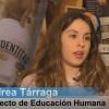 Andrea Tárraga durant l'entrevista amb ARAMULTIMÈDIA