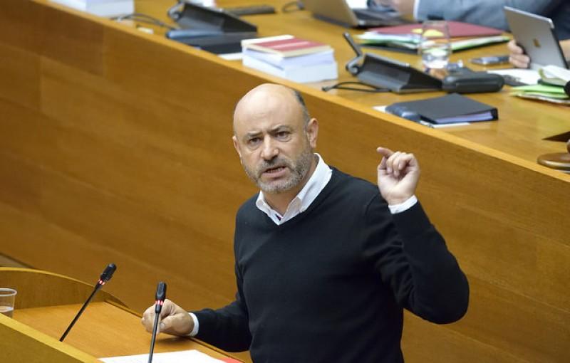 Rafa Briet, com a Diputat en les Corts. Imatge del PSPV