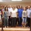 Jacqueline Cerdà junt a regidors i membres de Compromís després de ser alcaldessa / AM